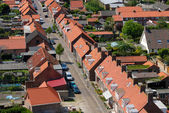 Aerial view over the village Westkapelle, Netherlands — Stock Photo