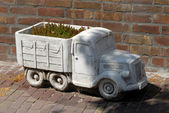Truck as flower box — Stock Photo