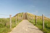 オランダの砂丘の上にパス — ストック写真