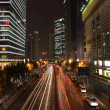 Stock Photo: Street in Pudong at night, Shanghai China