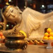 Buddha statue at Jade Buddha temple in Shanghai, China - Stock Photo