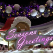 Seasons Greetings Christmas Decoration - Stock Photo