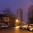 Stock Photo: Street at night in Shanghai, China. Photo taken at 16th of November 2010