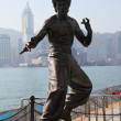 Statue of Bruce Lee at the Avenue of Stars in Hong Kong - ストック写真