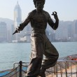 Statue of Bruce Lee at the Avenue of Stars in Hong Kong - Stockfoto