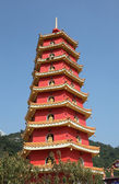 Pagoda by the Temple of 10000 Buddhas in Hong Kong — Stock Photo