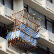Bamboo scaffolding at a high building in Hong Kong — Stock Photo #7910668
