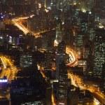 City of Shanghai illuminated at night — Stock Photo