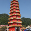 pagoda at temple of the 10000 buddhas in hong kong — Stock Photo