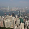 Hong Kong view from the Victoria Peak — Stock Photo