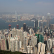 Hong Kong view from the Victoria Peak — 图库照片
