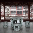 Stock Photo: Traditional Chinese Stone Table and Chairs