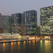 Stock Photo: Highrise waterside buildings in Hong Kong Kowloon