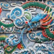 Colorful chinese sculpture of a dragon — Stock Photo #7913803
