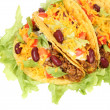 Delicious Mexican tacos - Stock Photo