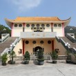 Buddhist temple in Tian Tan, Hong Kong, China - Stock Photo