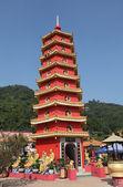 Pagoda at Temple of the 10000 Buddhas in Hong Kong — Stock Photo