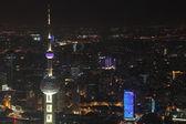 オリエンタル パール タワー、上海の夜 — ストック写真
