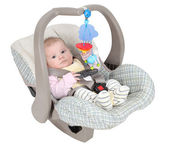 Baby in child car seat — Stock Photo