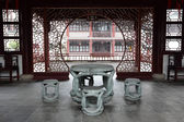 Traditional Chinese Stone Table and Chairs — Stock Photo