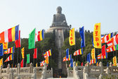 Giant Buddha Statue in Tian Tan, Hong Kong — Stock Photo
