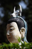 Portrait of a buddhist statue, Hong Kong — Stock Photo