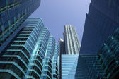 Modern highrise buildings downtown in Hong Kong — Stock Photo