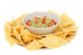 Guacamole and chips — Stock Photo