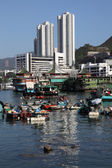 Fishing boats in Hong Kong Aberdeen — Stock Photo