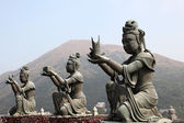Buddhist Statue in Tian Tan Hong Kong, China — Stock Photo