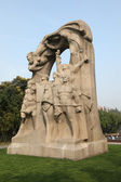 Monument at the Long Hua Martyrs' Cemetery in Shanghai, China. — Stockfoto