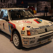 Stock Photo: Peugeot 205 Turbo 16 Rally Racing Car