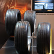 New Continental ContiSportContact tires — Stockfoto #7947634