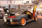 Porsche gtr con puertas de ala de gaviota — Foto de Stock