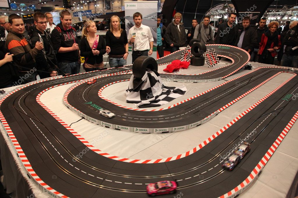 ESSEN - NOV 29: Slot Car Racing Racing Track at the Essen Motor Show in Essen, Germany, on November 29, 2011  Stock Photo #7946573