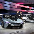Stock Photo: BMW electric concept cars i8 and i3