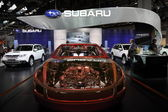 Japanese car manufacturer Subaru at the 64th IAA — Stock Photo