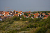 Landscape with flemish style houses — Foto Stock
