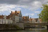 Old city architecture, Brugge, Belgium — Stock Photo