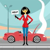 Car breakage — Stock Vector