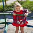 Adorable little girl playing in playground — Stock Photo #6903533