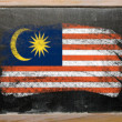 Royalty-Free Stock Photo: Flag of Malaysia on blackboard painted with chalk