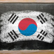 Stock Photo: Flag of South Koreon blackboard painted with chalk