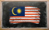 Flag of Malaysia on blackboard painted with chalk — Stock Photo
