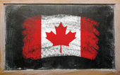 Flag of Canada on blackboard painted with chalk — Stock Photo