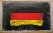 Flag of Germany on blackboard painted with chalk — Stock Photo