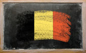 Flag of Belgium on blackboard painted with chalk — Stock Photo