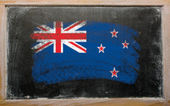 Flag of New Zealand on blackboard painted with chalk — Stock Photo