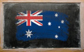 Flag of Australia on blackboard painted with chalk — Stock Photo