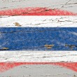 Flag of Thailand on grunge wooden texture painted with chalk — Stock Photo